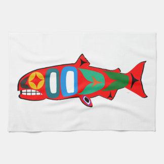 Coastal Salmon Tea Towel