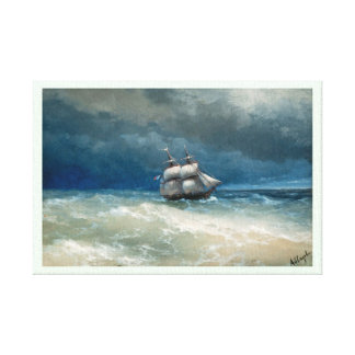 Coastal scene with Stormy Waters  Ivan Aivazovsky Gallery Wrapped Canvas
