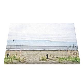 Coastal Sea Dunes of North Carolina Stretched Canvas Print