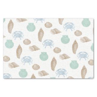 Coastal Seashells Pattern Tissue Paper