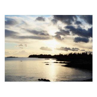 Coastal Silhouette in County Kerry, Ireland Postcard