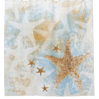 Coastal Starfish Sea Star Shower Curtain