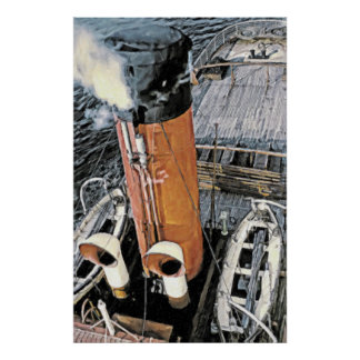 Coastal Steamer Poster