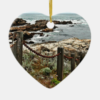 coastal steps zazzle ceramic ornament
