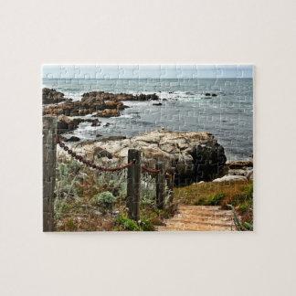 coastal steps zazzle jigsaw puzzle