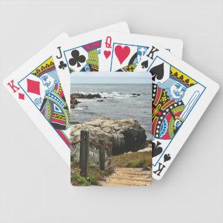 coastal steps zazzle poker deck