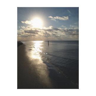 Coastal Sunrise at St Simon's Island. Gallery Wrapped Canvas