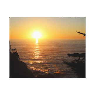 Coastal Sunset Gallery Wrapped Canvas