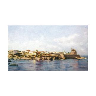 Coastal town/costeiro/Coastal Pobo town Gallery Wrap Canvas