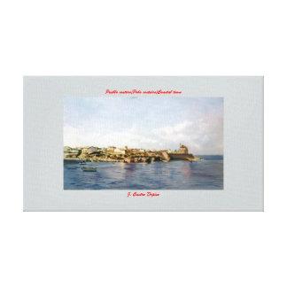 Coastal town/costeiro/Coastal Pobo town Stretched Canvas Print