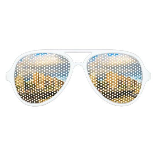 Coastal Urban Scene, Montevideo, Uruguay Aviator Sunglasses