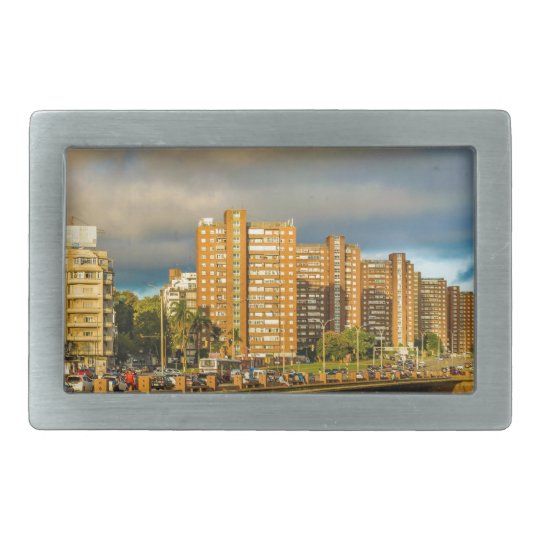 Coastal Urban Scene, Montevideo, Uruguay Belt Buckle
