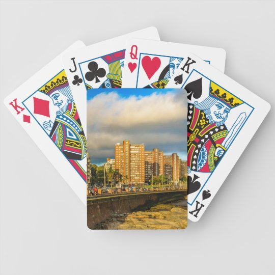 Coastal Urban Scene, Montevideo, Uruguay Bicycle Playing Cards