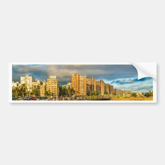 Coastal Urban Scene, Montevideo, Uruguay Bumper Sticker