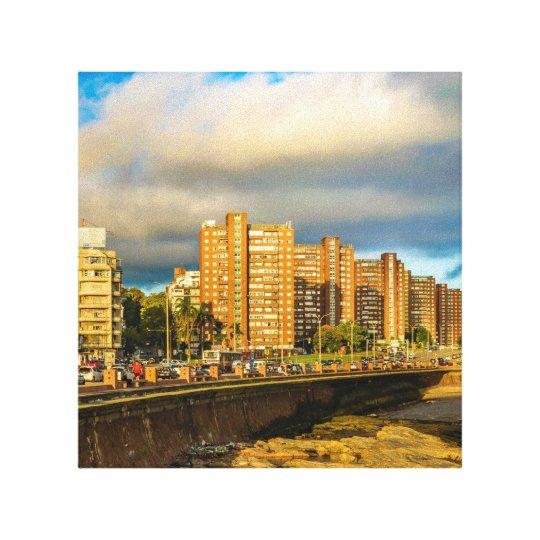 Coastal Urban Scene, Montevideo, Uruguay Canvas Print