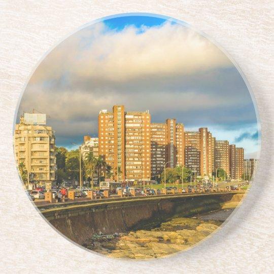 Coastal Urban Scene, Montevideo, Uruguay Coaster