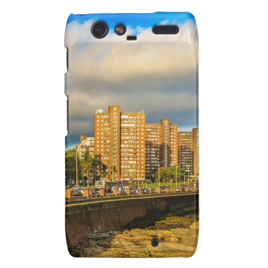 Coastal Urban Scene, Montevideo, Uruguay Droid RAZR Cases