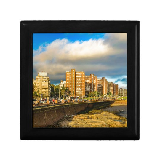 Coastal Urban Scene, Montevideo, Uruguay Gift Box