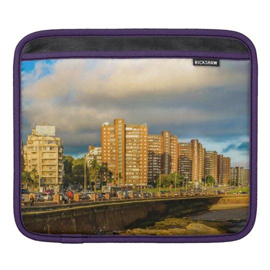 Coastal Urban Scene, Montevideo, Uruguay iPad Sleeve