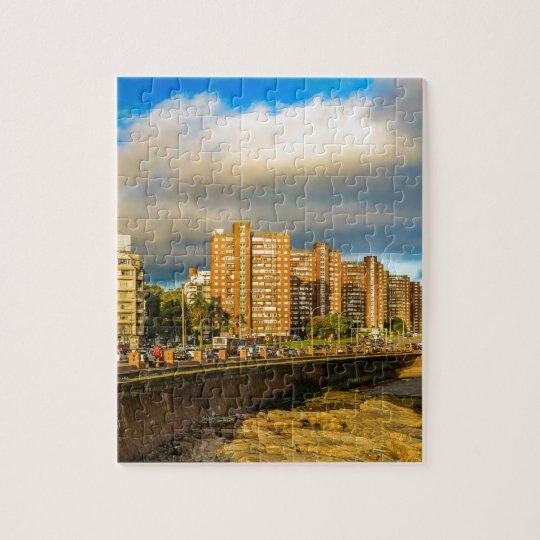 Coastal Urban Scene, Montevideo, Uruguay Jigsaw Puzzle