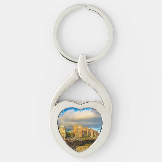 Coastal Urban Scene, Montevideo, Uruguay Key Ring