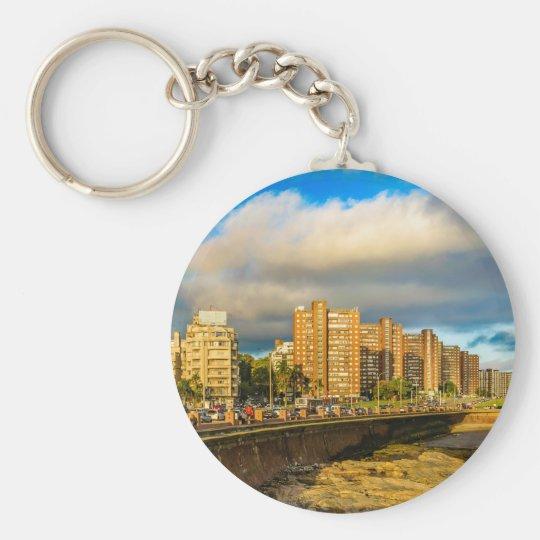 Coastal Urban Scene, Montevideo, Uruguay Key Ring