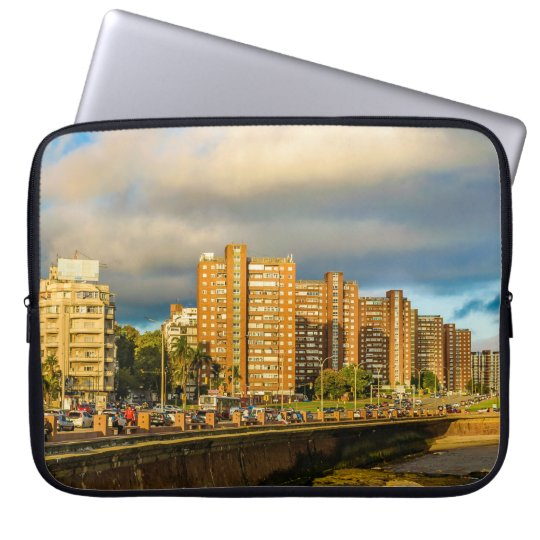 Coastal Urban Scene, Montevideo, Uruguay Laptop Sleeve