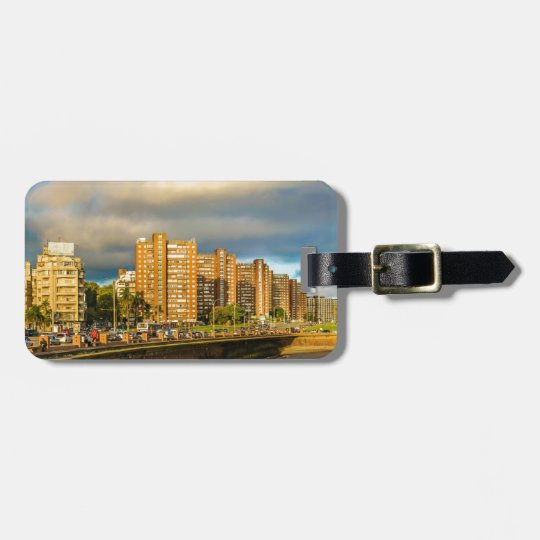 Coastal Urban Scene, Montevideo, Uruguay Luggage Tag