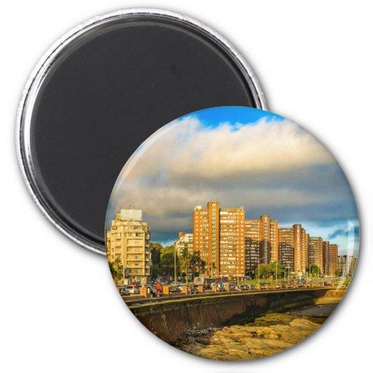 Coastal Urban Scene, Montevideo, Uruguay Magnet