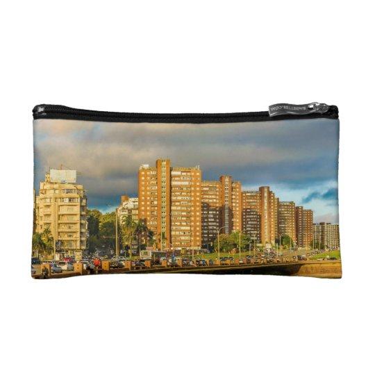 Coastal Urban Scene, Montevideo, Uruguay Makeup Bag
