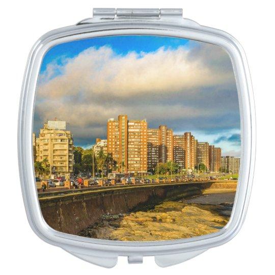 Coastal Urban Scene, Montevideo, Uruguay Makeup Mirror