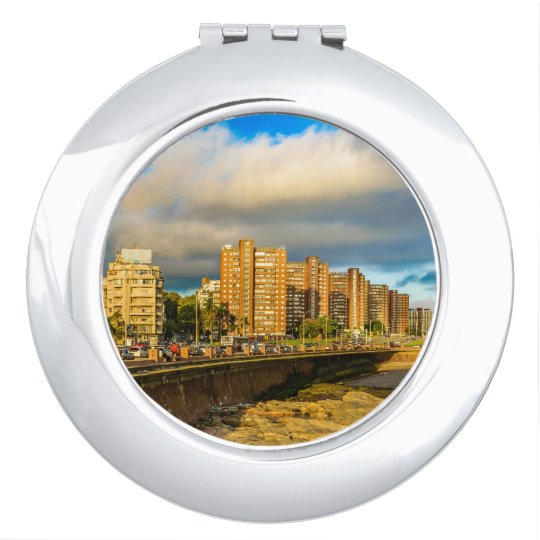 Coastal Urban Scene, Montevideo, Uruguay Makeup Mirror