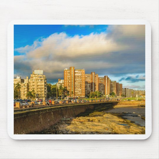 Coastal Urban Scene, Montevideo, Uruguay Mouse Pad