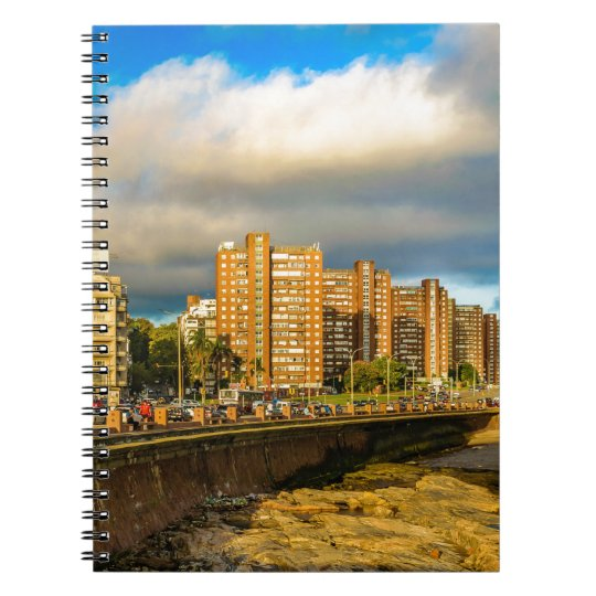 Coastal Urban Scene, Montevideo, Uruguay Notebook