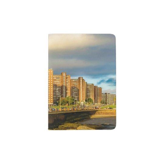 Coastal Urban Scene, Montevideo, Uruguay Passport Holder