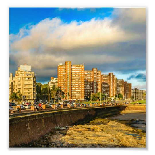 Coastal Urban Scene, Montevideo, Uruguay Photo Print
