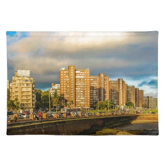 Coastal Urban Scene, Montevideo, Uruguay Placemat