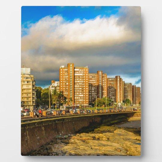 Coastal Urban Scene, Montevideo, Uruguay Plaque