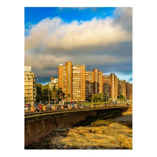 Coastal Urban Scene, Montevideo, Uruguay Postcard