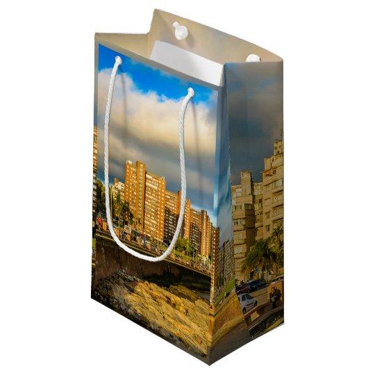 Coastal Urban Scene, Montevideo, Uruguay Small Gift Bag