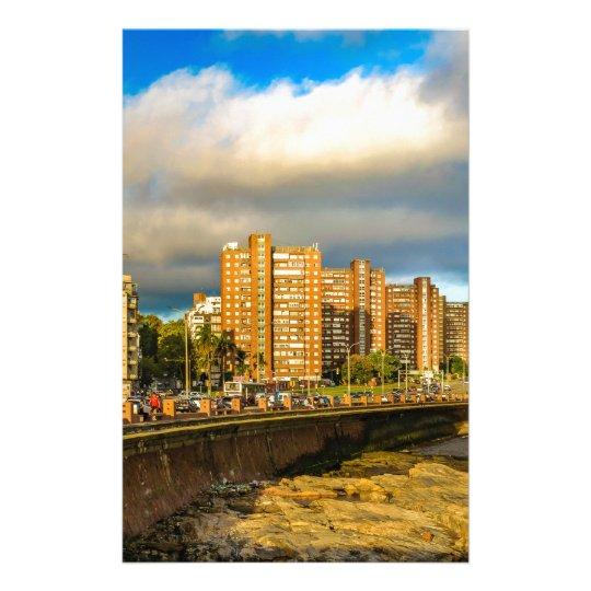 Coastal Urban Scene, Montevideo, Uruguay Stationery