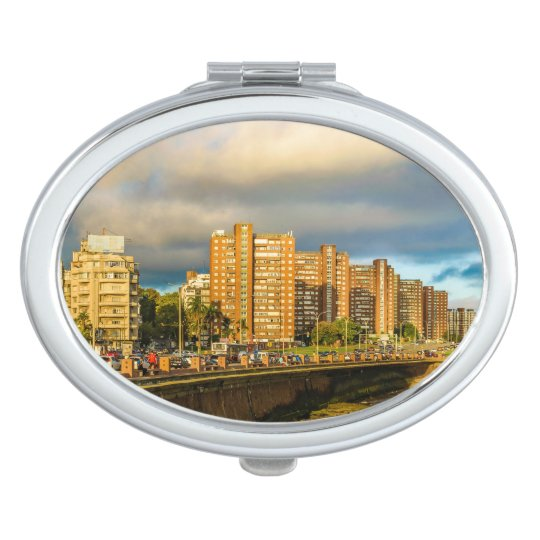 Coastal Urban Scene, Montevideo, Uruguay Travel Mirrors