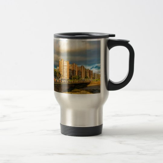 Coastal Urban Scene, Montevideo, Uruguay Travel Mug