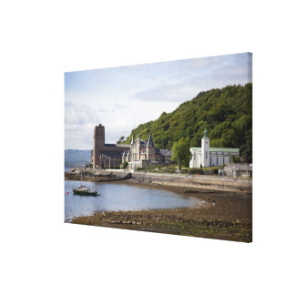 Coastal view with historic buildings, Oban, Stretched Canvas Prints