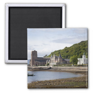 Coastal view with historic buildings, Oban, Magnet