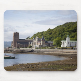Coastal view with historic buildings, Oban, Mouse Pad