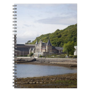 Coastal view with historic buildings, Oban, Notebooks