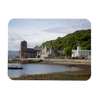 Coastal view with historic buildings, Oban, Rectangular Photo Magnet