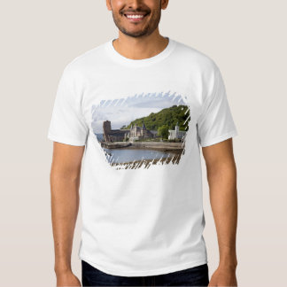 Coastal view with historic buildings, Oban, Tshirts