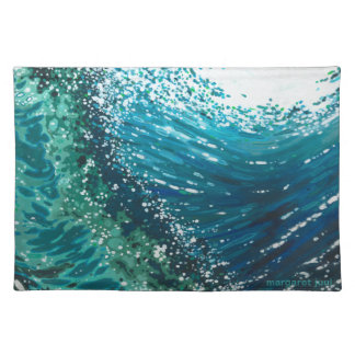 Coastal Wave Decor Placemat by Margaret Juul